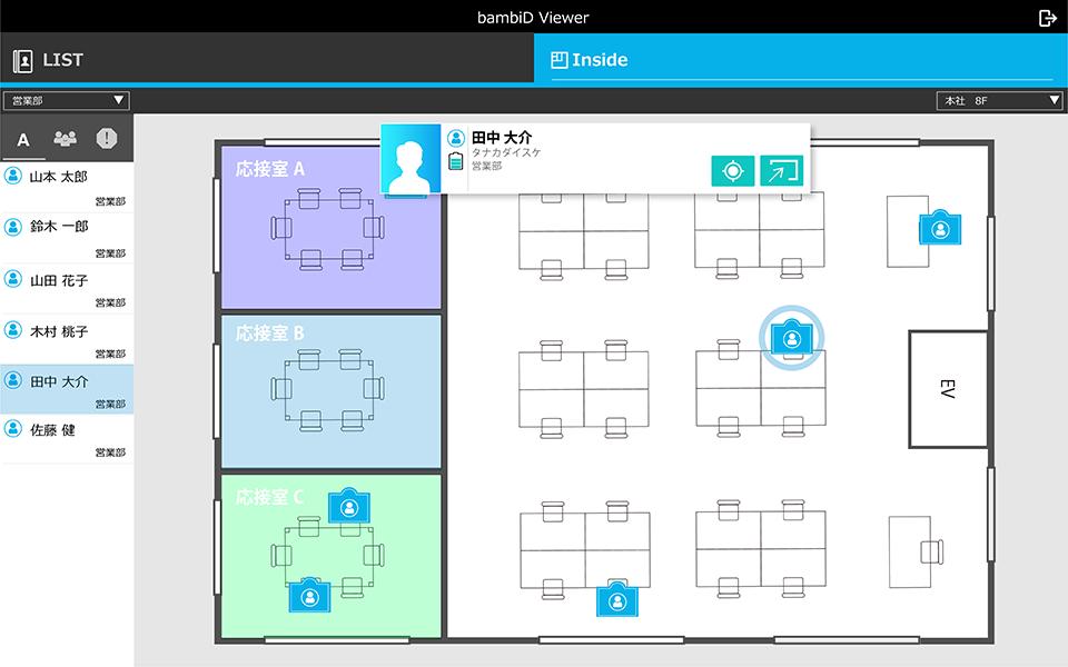 位置情報 可視化アプリ bambiD inside