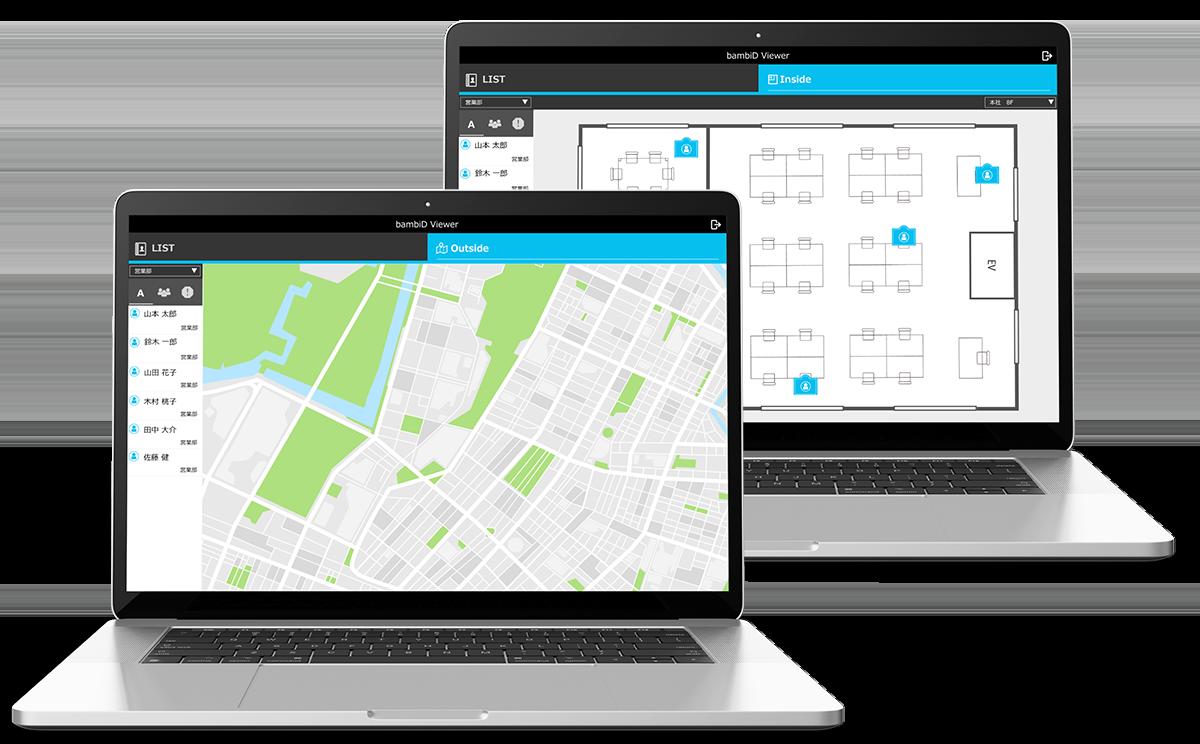 bambiD Viewer IoT 位置情報 可視化アプリ