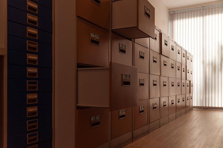 屋内 ビジネス 書類 位置情報 管理