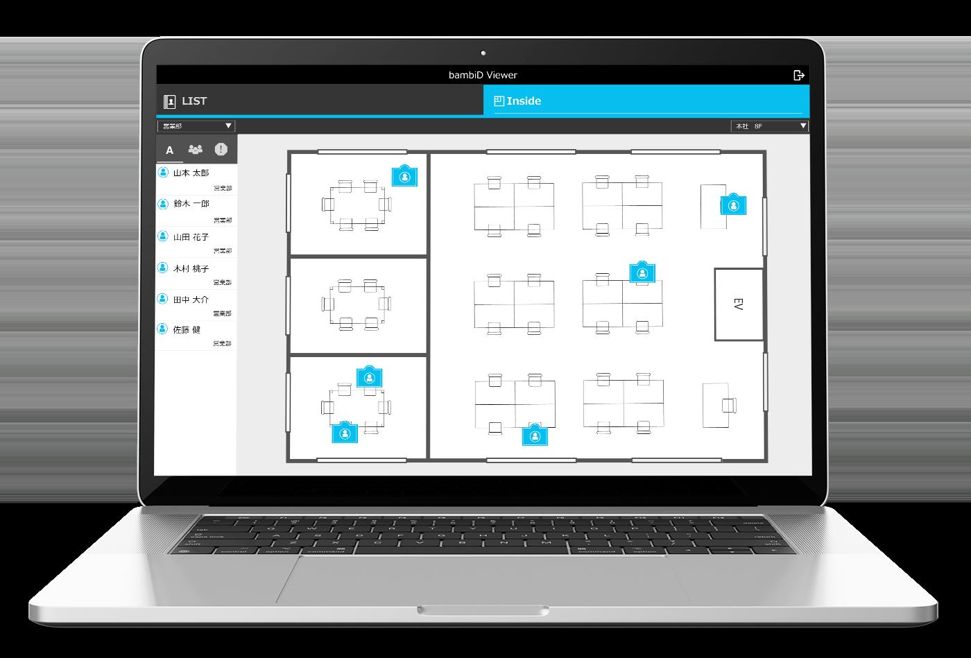 IoT 位置情報管理 アプリ bambiD Viewer