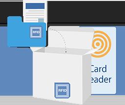 bambiD Link 書類ケース 段ボール RFID タッチ